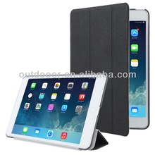 High Quality 3-folding Cross Texture Leather Case for iPad mini