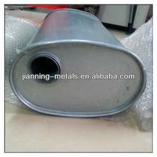 Aluminium oval exhaust system