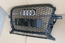 For RSQ5 Q5 grille ABS BLACK honeycomb Front Grill for Audi rsQ5 grille