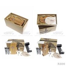 artistic product k600 e cigarette kit wood Handle Kit with x6 v2 tank atomizer , wooden mod k600