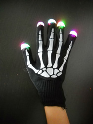 2014 newest led halloween glove ,halloween party light up skeleton gloves