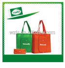 Recycle non woven foldable shopping bag