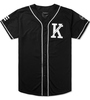 Custom full black colour latest style Baseball sublimation printed /Baseball Jersey/ High Quality Team wear