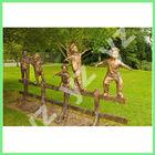 Garden resin statue of playing children BFSN-B329