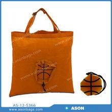 polyester foldable basketball bag
