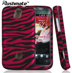 Pink Zebra Rubber Design Crystal Case For Huawei MyTouch Q 2 II 4G U8730