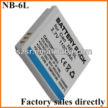 for Canon NB-6L Battery Pack 3.7V 1000mAh LI-Ion
