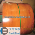 padrão de madeira ppgi pvc folheado de madeira da porta para o quarto frio