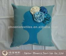 newest design 3d floral cushion cover wholesale