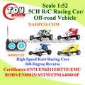 1:52 5ch r/c cruz- país veículo/kart racing carro( 4 asst)