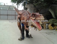 2014 Amusement Park Equipment Animatronic adult dinosaur costumes