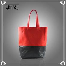 Kore moda çarpışma renkli kadın deri çanta çanta