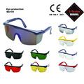 Gafas de protección de la norma en 166/ansi lente de la pc, de seguridad industrial gafas de visión de ancho de color de múltiples