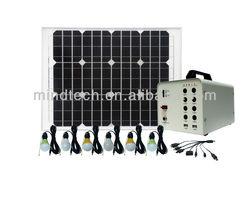 40w solar power system mini solar panel for led light indoor solar light kit