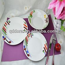 Polónia pratos de porcelana, Sublimação placas quadradas, Plain white prato de jantar