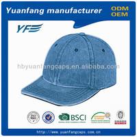 heavy brushed cotton designer royal navy baseball cap