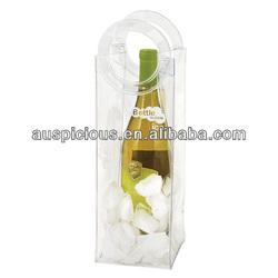 Die cut handle pvc wine cooler gift bag ice chiller