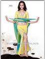 Novo estilo Bead Fringe prática de dança do ventre trajes vestidos roupas de dança do ventre QC2039
