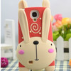 rubber mobile phone case running rabbit cell phone cases for samsung galaxy s4 i9500