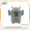 Portable mini speaker with usb charger, stereo speaker, android robot mini speaker