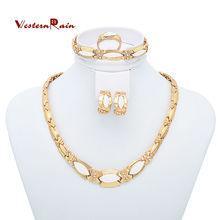 Famous trendy brand bangle set drill 14k gold plated opal women statement bangles jewelry
