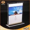 Sıcak satış akrilik cd dvd tutucu vitrin standı, l şeklinde akrilik broşürlük