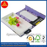 Customized hardboard Display box& case with half vision window