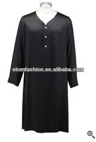 Luxury Nightwear Smooth Silk Mens Nightshirts BV140