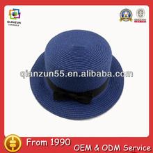 blue beauty girls custom ladies' straw hat plain bucket promotion paper straw hat