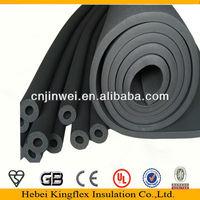 NBR/PVC elastomeric black heat rubber insulation sheet/density of construction material