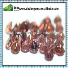 Natural dark garnet round shape cz loose zircon stone garnet mineral sand