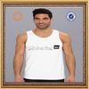 Customize 100% cotton white loose tank tops men
