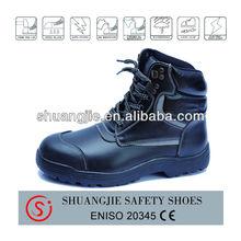 High cut Safety Shoes Rubber Sole / anti-slip / Steel toe/plate Oil resistant EN20345 SBP/S1P/