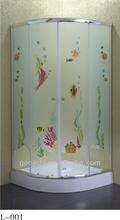 Silver luster aluminium profile glass outdoor shower room