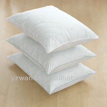 Luxury design direct factory made 100% cotton cover 5 star hotel custom wholesale white goose down pillow