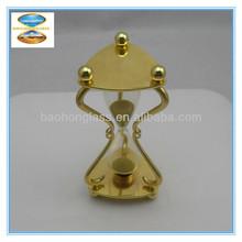 5 minute brass hourglass sand timer clock for souvenir