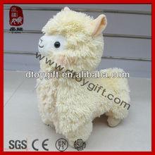2015 mascot sheep toys stuffed alpaca animal toy cute yellow lamb sheep colorful sheep plush soft toy alpaca