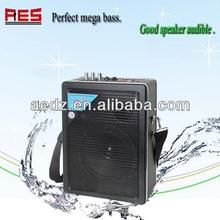 Aier factroy direct protable strap loudspeaker with belt usb sd mp3 outdoor concert speaker professional loudspeaker box