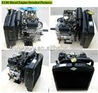 Two Cylinder water-cooled Mini Diesel Engine( EV80)