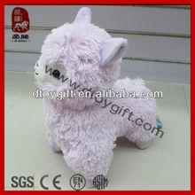 2015 mascot sheep toys new product stuffed alpaca animal toy cute purple lamb colorful sheep plush alpaca toys sheep soft toy