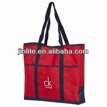 Red Polyester Tote Bag with Long Handle
