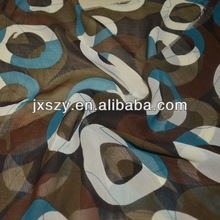 silk georgette /printed silk fabric / patterned silk fabric