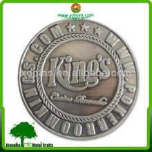customized poker club gamble tournament metal medals medallion souvenir