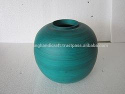 Round bambooware vase, nice design, handicraft, Vietnam origin