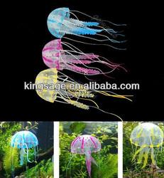 Glowing Effect Vivid Jellyfish for Aquarium Fish Tank