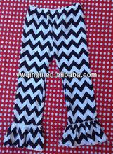 chevron ruffle pants ,lovely baby clothing