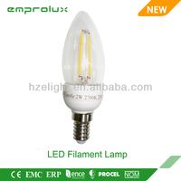2014 new style hot sale filament candle light E27 cap