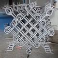 Pannello di recinzione in ferro battuto/fiore decorativo design del pannello