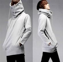 Mens high chimney collar sweatshirt ,French terry Fabric