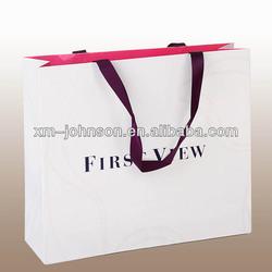 Xiamen manufacture custom ribbon tie gift bags